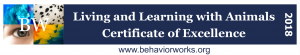 Living and learning with animals - certificate of excellence